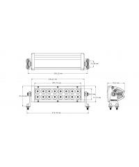Cветодиодная фара направленного света 10 дюймов (16 шт по 5W)-31011