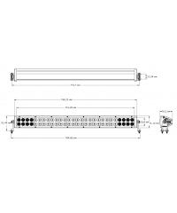 Cветодиодная фара комбинированного света 30 дюймов (56 шт по 5W)-33041