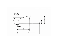 Расширители арок резиновые K25-BZD2