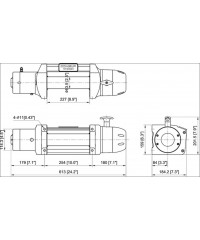 Лебедка COMEUP Seal Gen2 12,5 12V 5670 кг 295730-COMEUP295730