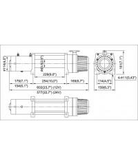 Лебедка COMEUP DV-9s 12V 4082 кг 859252-COMEUP859252