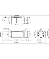 Лебедка COMEUP Seal Gen2 12,5rs 12V 5670 кг 295780-COMEUP295780