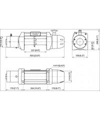 Лебедка COMEUP Seal Gen2 9,5s 12V 4309 кг 295990-COMEUP295990