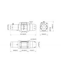 Лебедка COMEUP Seal 8.0s MD (без троса) 12V 3630 кг 296155-COMEUP296155
