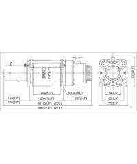 Лебедка COMEUP DV-12 12V 5443 кг 857130-COMEUP857130