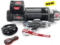 Лебедка WARN 9.5XP-s, 12V, 24 м синтетического троса, клюз, 4310 кг + радио пульт-88850