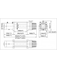 Лебедка COMEUP DV-9 12V 4082 кг 856329-COMEUP856329