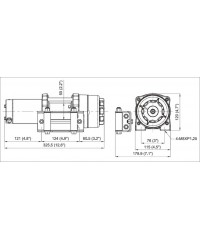 Лебедка COMEUP ATV Cub 3s std 12V 129300-COMEUP129300