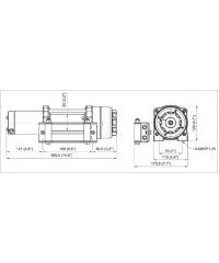 Лебедка COMEUP ATV Cub 4s std 12V 129410-COMEUP129410