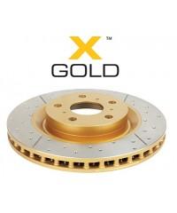 Тормозной диск DBA GOLD передний для Toyota TLC120 338/68/28/108 mm 6*139,7-DBA2700X
