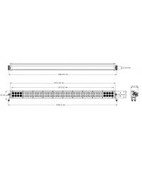 Cветодиодная фара комбинированного света 42 дюйма (80 шт по 5W)-34241