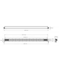 Cветодиодная фара комбинированного света 50 дюймов (96 шт по 5W)-35041