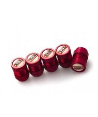 Колпачки на нипель ARB (5 шт, серебро/черный/красный)-217361-3