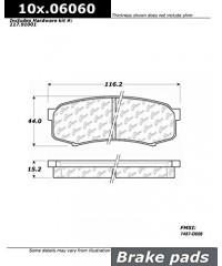 Тормозные колодки задние керамика PosiQuiet-105.06060