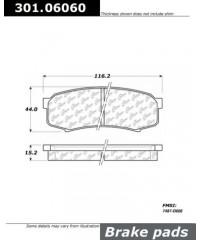 Тормозные колодки задние керамика Centric parts-301.06060