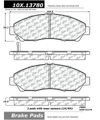 Тормозные колодки передние керамика PosiQuiet-105.13780