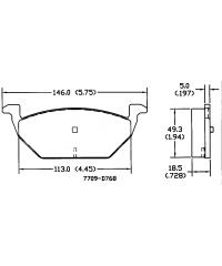 Тормозные колодки передние PowerStop Z-16 керамика-16-768