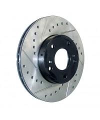 Тормозной диск передний левый StopTech перфорация + слот-127.44162L