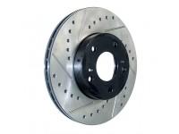 Тормозной диск задний левый StopTech перфорация + слот-127.44094L