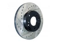 Тормозной диск передний правый StopTech перфорация + слот-127.44156R