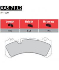 Колодки тормозные передние Brembo GTR Racing-XA5.71.L2