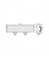 Cветодиодная фара комбинированного света 12''LEDLightBar 10-30V DC 72W CREE-SM6024-72