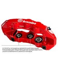 Тормозная система Brembo GTR Racing передняя с дисками с насечками для Land Cruiser 200 2015+-1N2.9535A