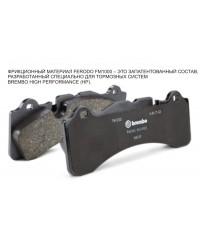 Тормозная система Brembo GTR Racing задняя с дисками с насечками для Land Cruiser 200 2015+-2P2.9051A