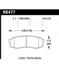 Колодки тормозные HAWK Perfomance REAR - HPS-HB477F.610
